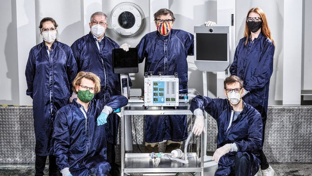 NASA Rocket Scientists Designed a Rapid-Production Ventilator in Just 37 Days