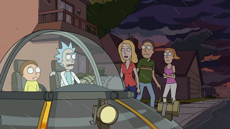 Illustration for article titled One wedding and a lot of funerals on Rick And Morty's season finale