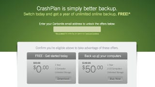 Illustration for article titled Get a Year of Unlimited Backups from CrashPlan for Free