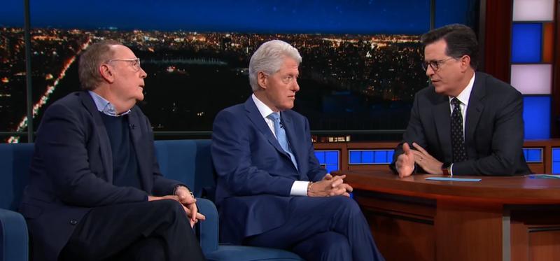James Patterson, Bill Clinton, Stephen Colbert