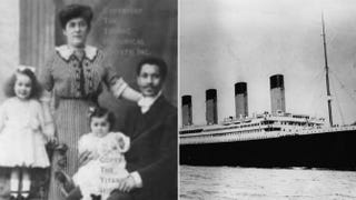 Joseph Laroche and his family; the TitanicWikimedia Commons; Central Press/Getty Images