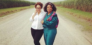Ruth Carter and Oprah Winfrey on the set of The Butler (Instagram)