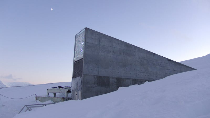 The entrance to the Svalbard Global Seed Vault.