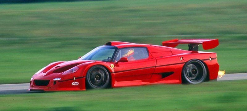 Illustration for article titled All Hail The Oddball Ferrari F50 GT
