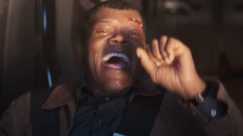 Nick Fury having the time of his life.