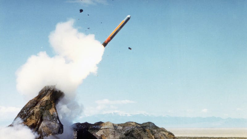 Ground Launched Cruise Missile launched at Dugway Range, 1985.