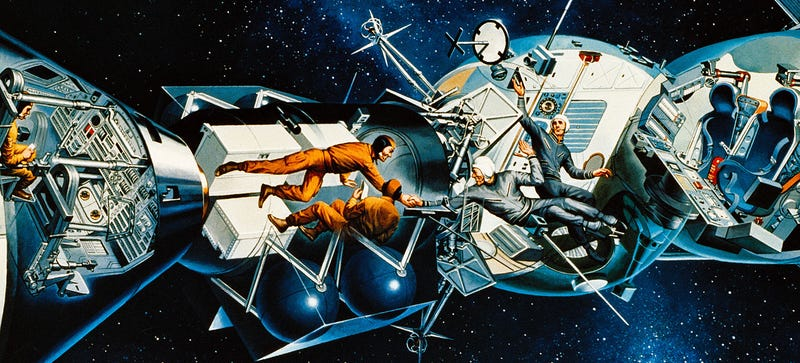 Illustration for article titled The Forgotten Space Artist Who Envisioned the End of the Space Race