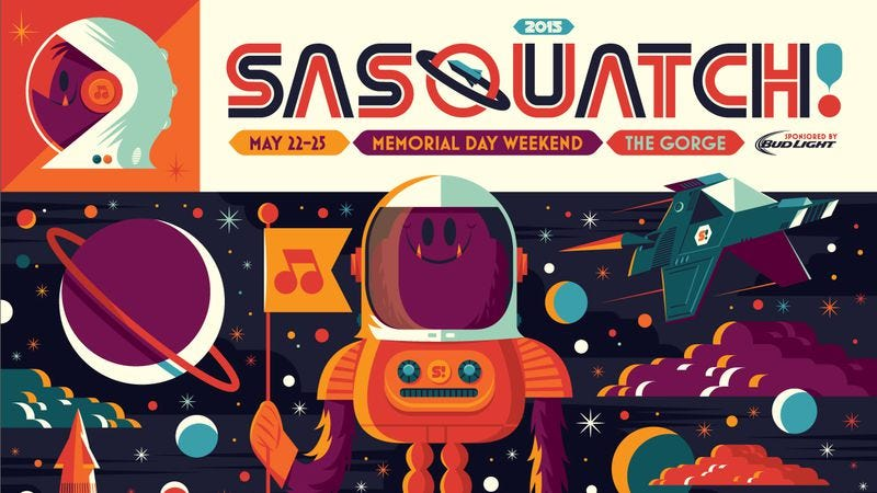 Illustration for article titled Kendrick Lamar, Robert Plant, Modest Mouse headlining Sasquatch Music Fest