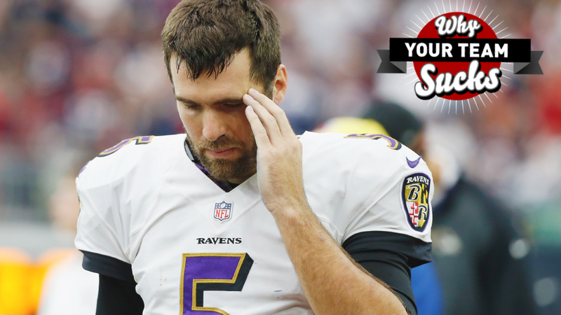 Illustration for article titled Why Your Team Sucks 2015: Baltimore Ravens