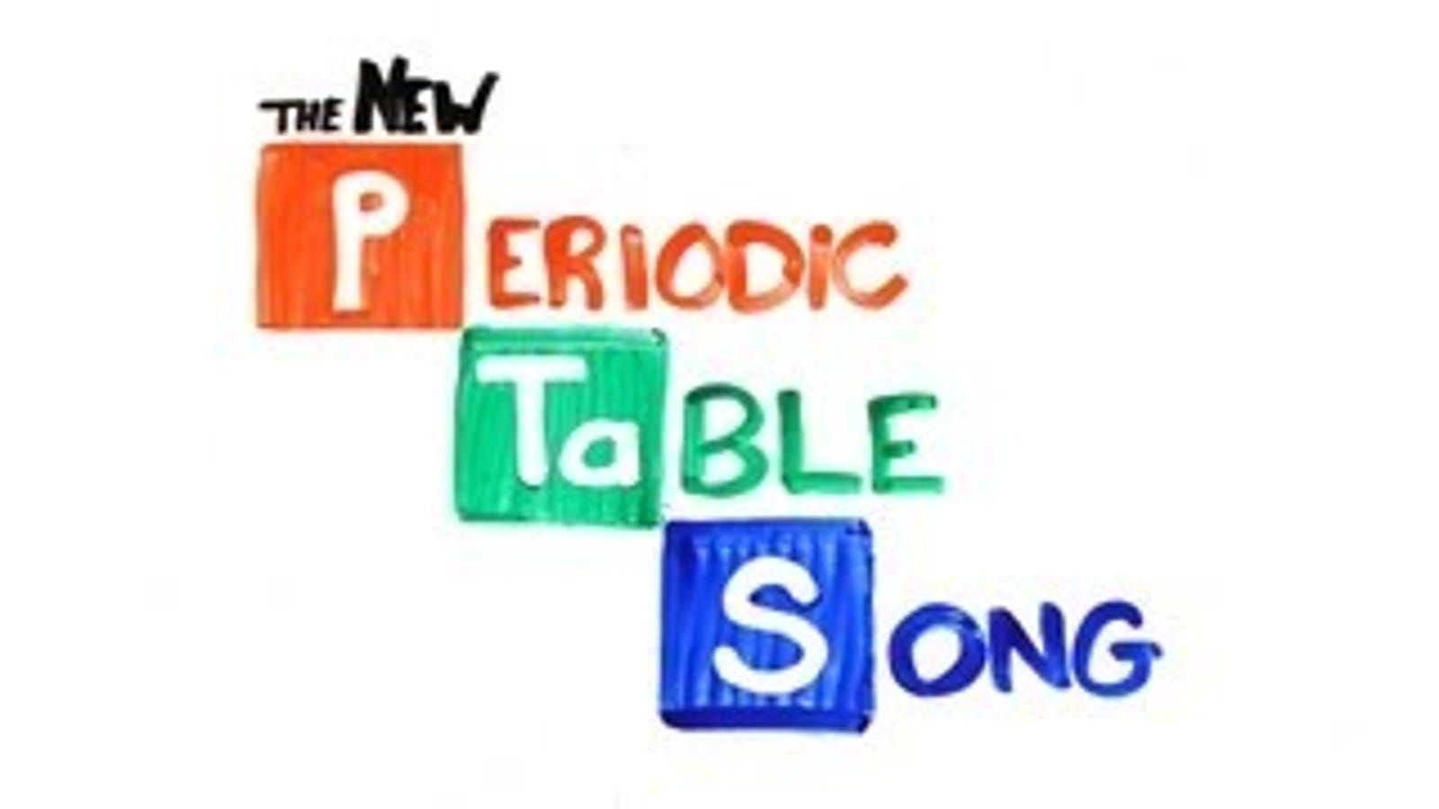 It Takes An Earworm To Memorize The Periodic Table
