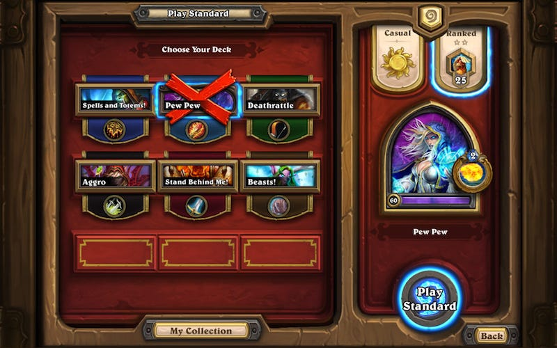Illustration for article titled HearthstoneIs Getting Some Big Changes (And More Deck Slots)