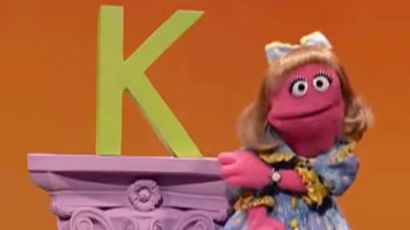 Illustration for article titled Sesame Street Mourns Death Of Original Letter K