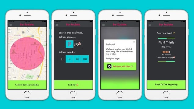 The Bar Roulette iOS App Makes Bar Hopping Adventures Even Better