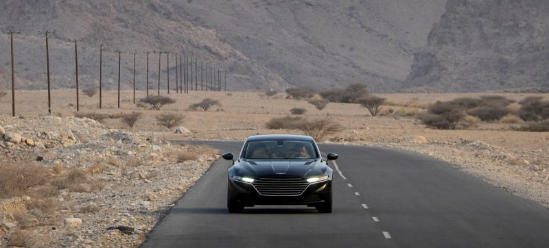 Illustration for article titled New Pictures Of The Aston Martin Lagonda Are Warping My Brain