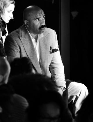 Steve Harvey attends the Prabal Gurung Fall 2016 fashion show during New York Fashion Week: The Shows at The Arc, Skylight at Moynihan Station, Feb. 14, 2016, in New York City.Mike Coppola/Getty Images