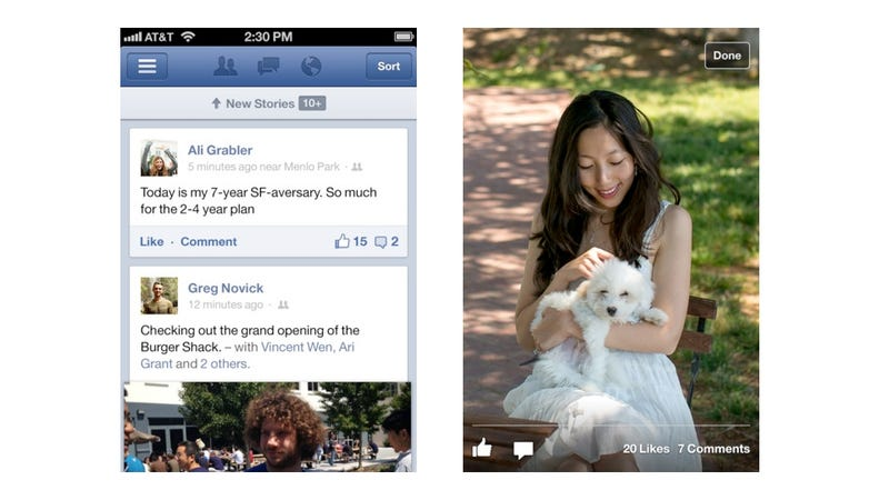 Illustration for article titled Facebook's Updated iOS App Is Fully Native and Free of HTML5