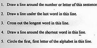 So-called literacy tests like this one led to the landmark Voting Rights Act. (Civil Rights Movement Veterans website)