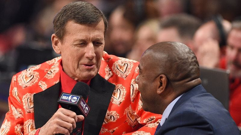 Craig Sager interviews Magic Johnson at this year's NBA All-Star game (Photo: Getty Images)
