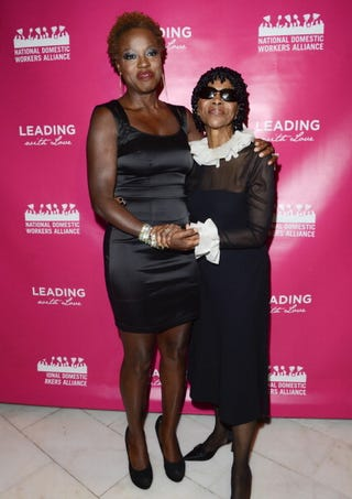 Viola Davis and Cicely Tyson pose for a photo during the National Domestic Workers Alliance Honors at the National Museum of Women in the Arts on Nov. 14, 2012, in Washington, D.C. (Kris Connor/Getty Images for National Domestic Workers Alliance)