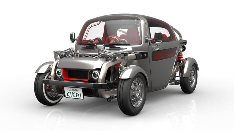 Illustration for article titled Toyota's Kikai Concept Is An Amazing Mid/Rear-Engine Hot Rod Robot Car