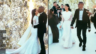 Illustration for article titled Kim and Kanye's Wedding Pictures Are Actually Really Sweet
