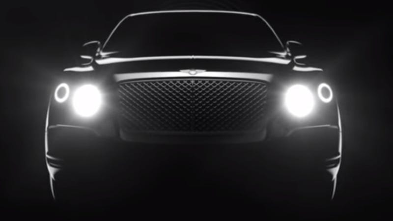 Illustration for article titled Bentley SUV Might Be Called 'Falcon,' With 30 Mile Plug-In Hybrid Range