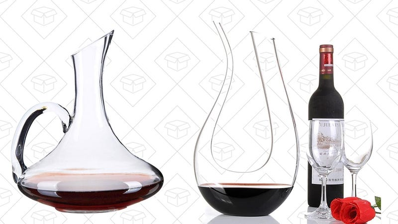 Wuudi Wine Decanter Carafe with handle, $20 with code PJCW6C7JWuudi U-Shaped Wine Decanter, $18 with code GW4QAHME