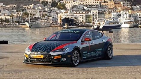 The Tesla Model S Race Car Is A CrazyFast Modified Street Car