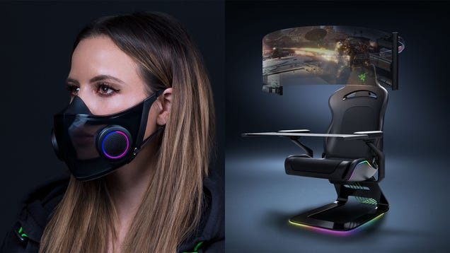 Razer s Wild Gaming Chair and Smart Mask Are Concept Gadgets Designed to Battle the Woes of 2021