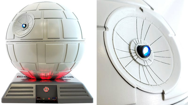 Illustration for article titled You Can Upgrade This Star Wars Death Star PC Case With a Superlaser Video Projector