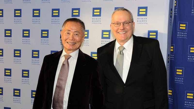 George and Brad Takei at the Human Rights Campaign Los Angeles Gala in 2015. Image via Getty.