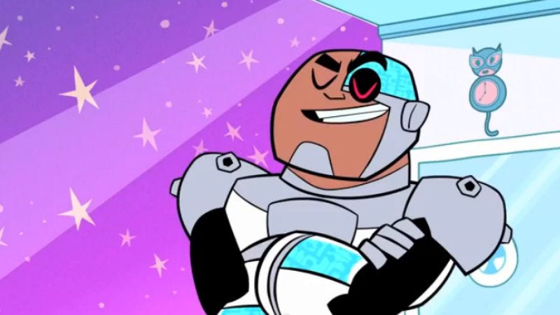 The live-action Cyborg, not this one from Teen Titans Go!
