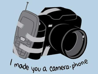 Illustration for article titled Here's a Camera Phone T-Shirt, No Need to Thank Us