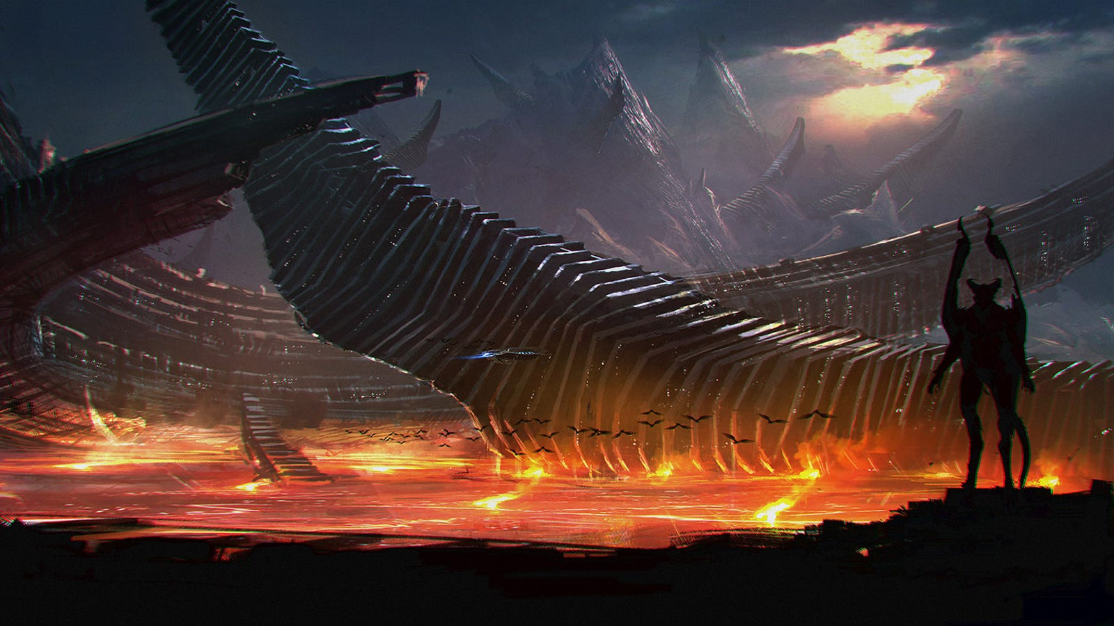 Gorgeous Concept Art of the Fiery Alien Planet From Syfy's ...