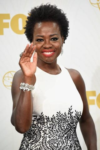 Viola Davis, winner of the Emmy for Outstanding Lead Actress in a Drama Series for How to Get Away With Murder, in the press room at the 67th Annual Primetime Emmy Awards at Microsoft Theater Sept. 20, 2015, in Los AngelesJason Merritt/Getty Images