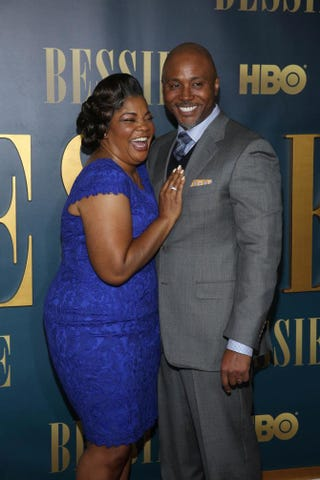 Mo'Nique and her husband, Sidney Hicks, at the New York screening of Bessie at the Museum of Modern Art in New York City on April 29, 2015.Rob Kim/Getty Images