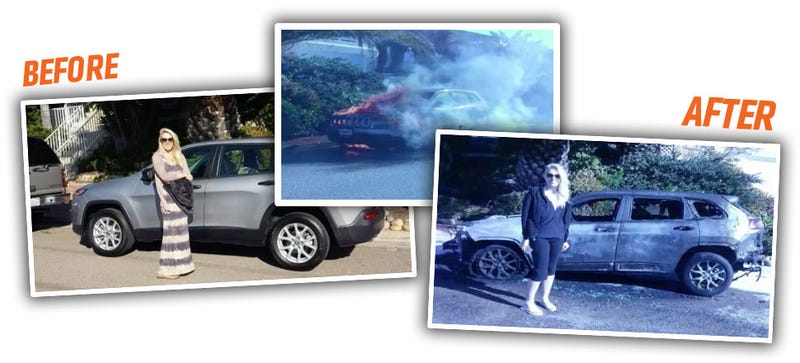 Illustration for article titled Brand New 2015 Jeep Cherokee Goes Up In Flames 36 Hours After Purchase