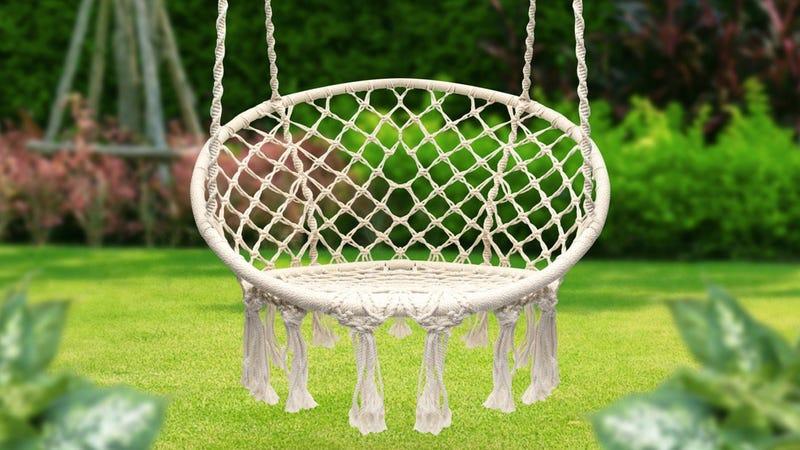 Sorbus Hammock Chair Macrame Swing | $53 | Amazon
