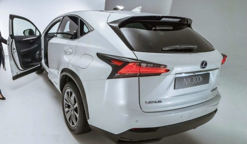 Illustration for article titled The Lexus NX300h Is Going To Be A Small, Pointy Crossover Hybrid