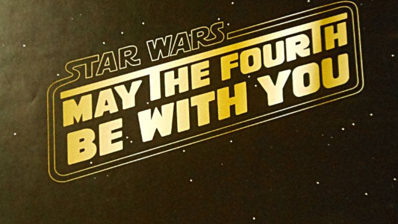 Illustration for article titled Star Wars Day receives perfunctory acknowledgement from Star Wars universe