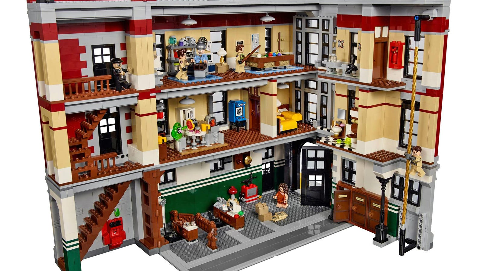 Ghostbusters Firehouse Headquarters News Videos Reviews And - Lego house interior