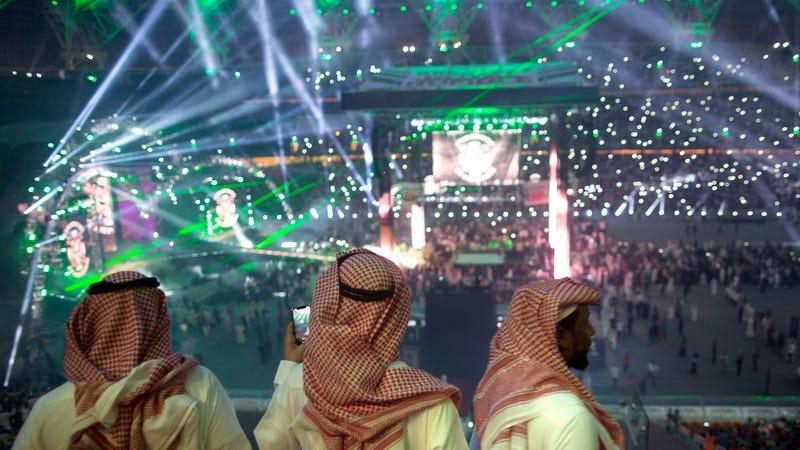 Fans at an April WWE show in Jeddah, Saudi Arabia.