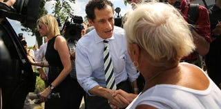 Anthony Weiner campaigns in New York City's Staten Island. (Spencer Platt/Getty Images)