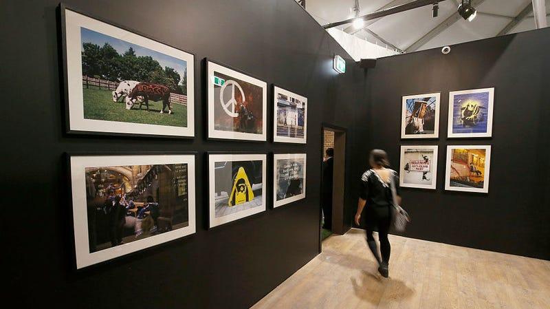 The Art Of Banksy exhibit in Melbourne, Australia