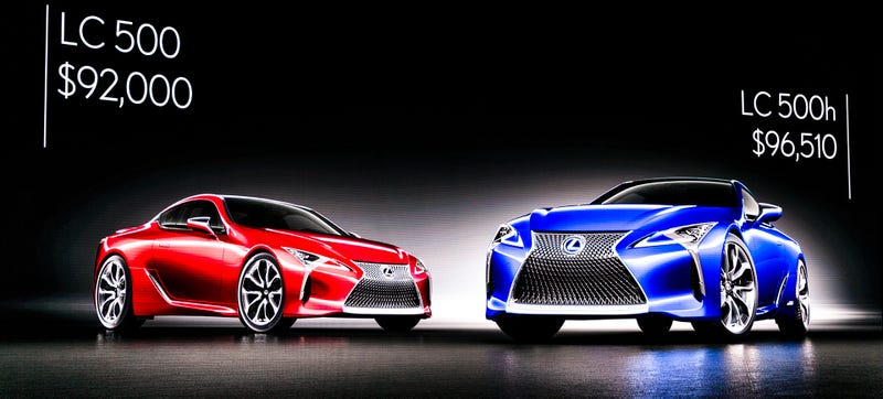 Illustration for article titled The Lexus LC 500 Coupe Starts At $92,000
