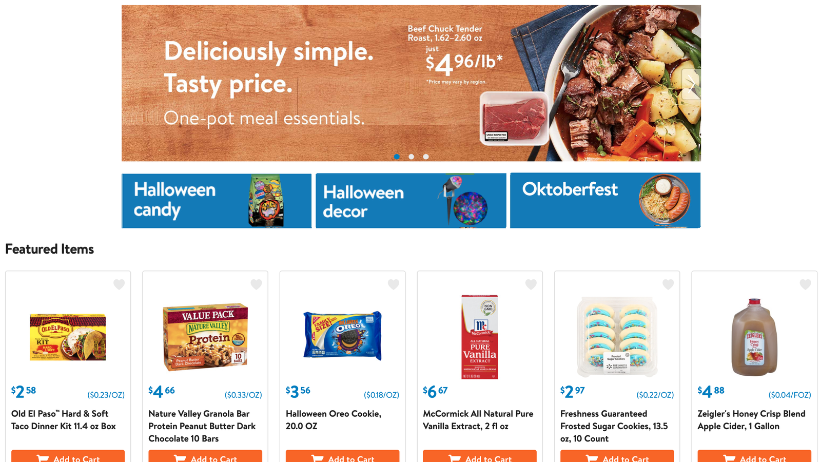 Save $10 On Your Next $50 Online Grocery Order