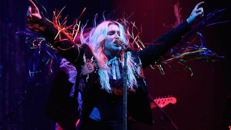 Kesha's new album, Rainbow, is out now. (Photo: Kesha at the Firefly Music Festival in June by Kevin Mazur/Getty Images for Firefly)