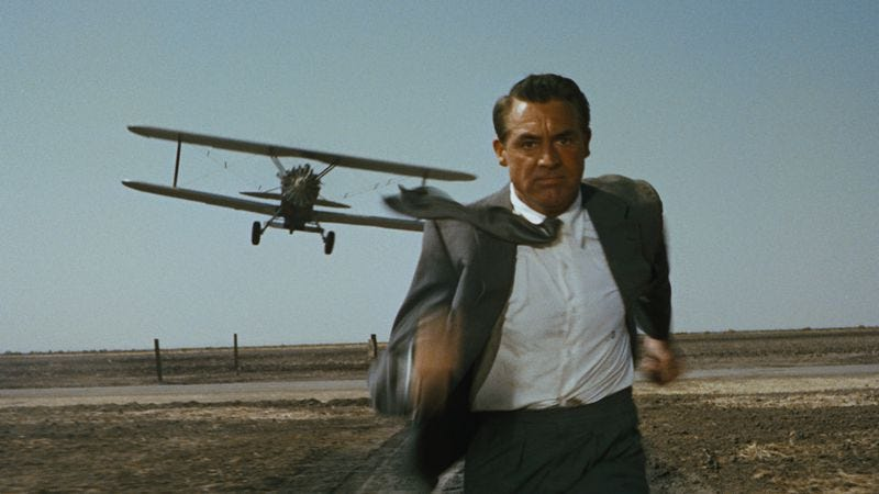 North By Northwest, one of several Hitchcock films on the list