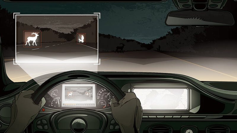 Illustration for article titled Mercedes Vehicles Have Night Vision That Can Recognize Animals Now
