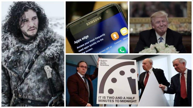 Illustration for article titled El móvil que usa Donald Trump, detalles de Juego de Tronos y el reloj del apocalipsis. Lo mejor de la semana